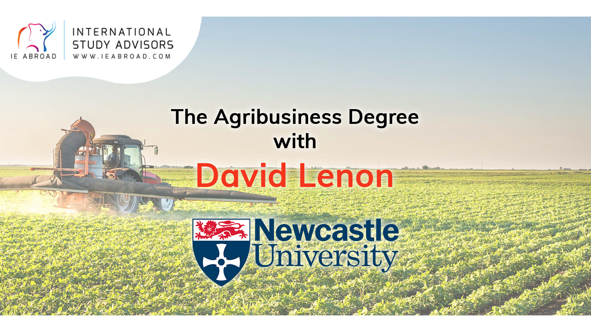 The AgriBusiness Degree with David Lenon | Newcastle University
